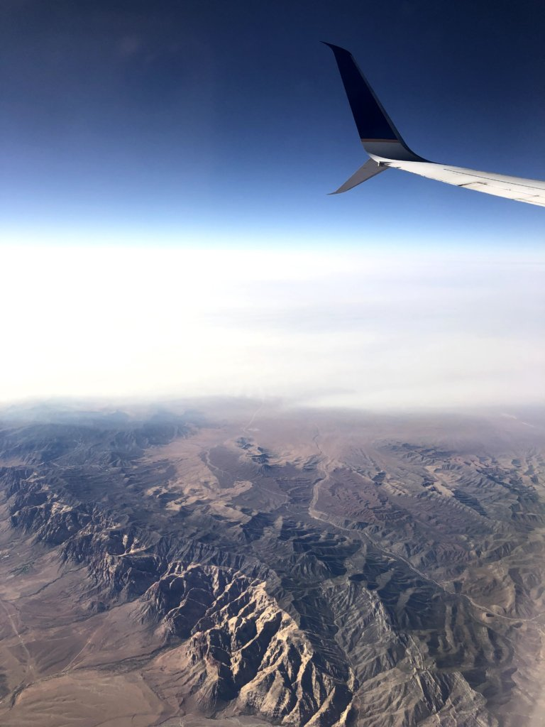 view from plane over Grand Canyon